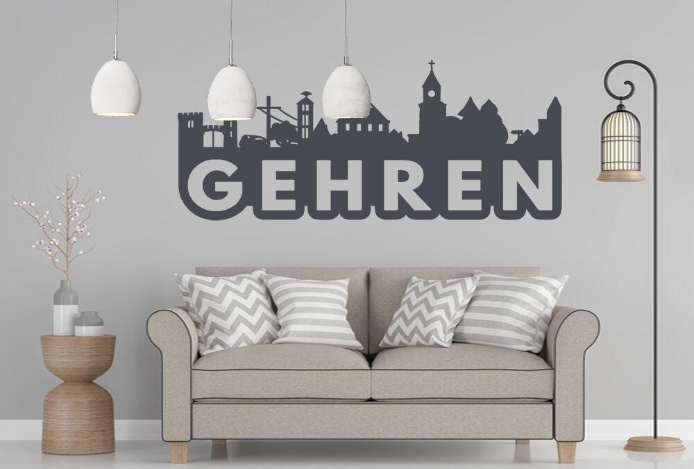 Gehren Wandtattoo Skyline