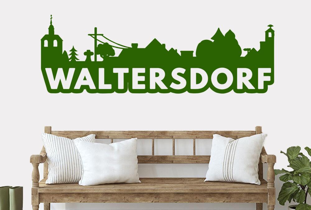 Waltersdorf Wandtattoo Skyline